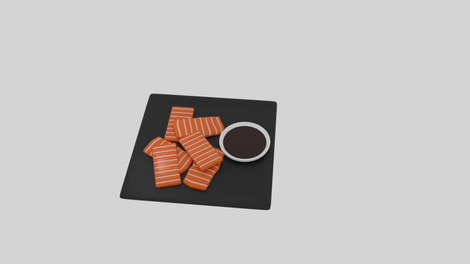 lax sashimi 3d líkan blanda 263525