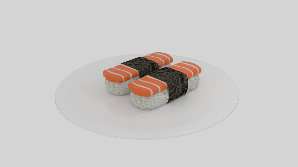 salmon sushi 3d model blend 263530