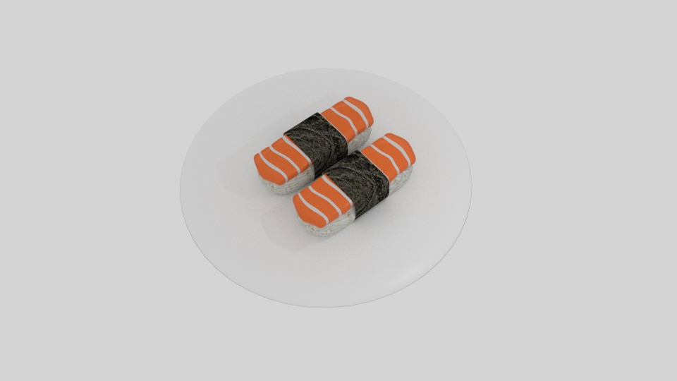 lax sushi 3d líkan blanda 263531