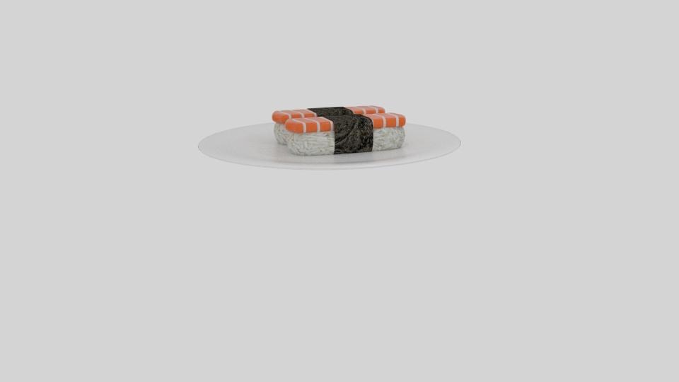 lax sushi 3d líkan blanda 263532