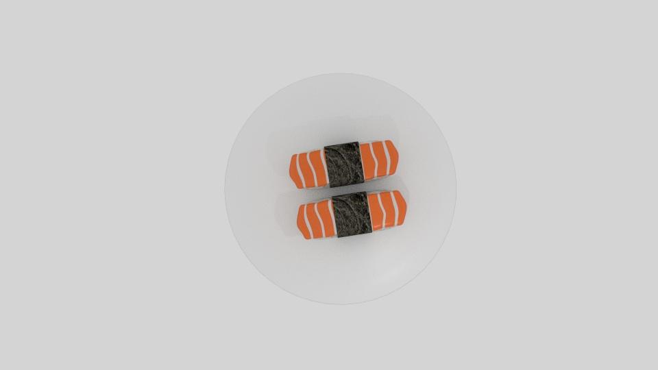 lax sushi 3d líkan blanda 263533