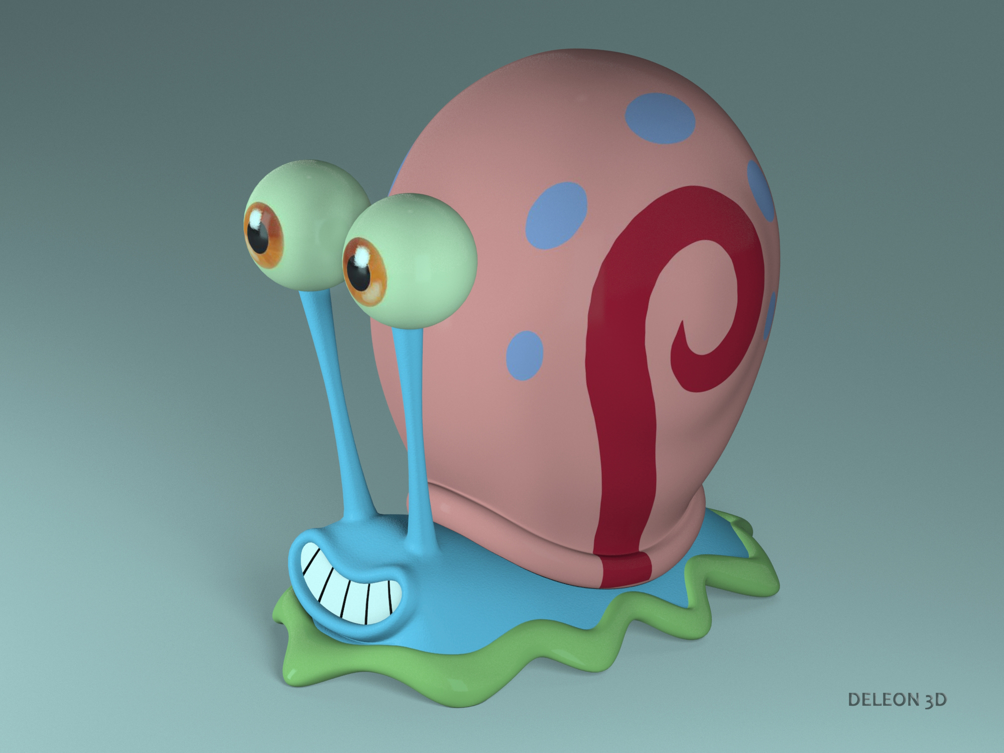 gary the snail 3d model max max obj lxo stl fbx c4d jpeg 263598