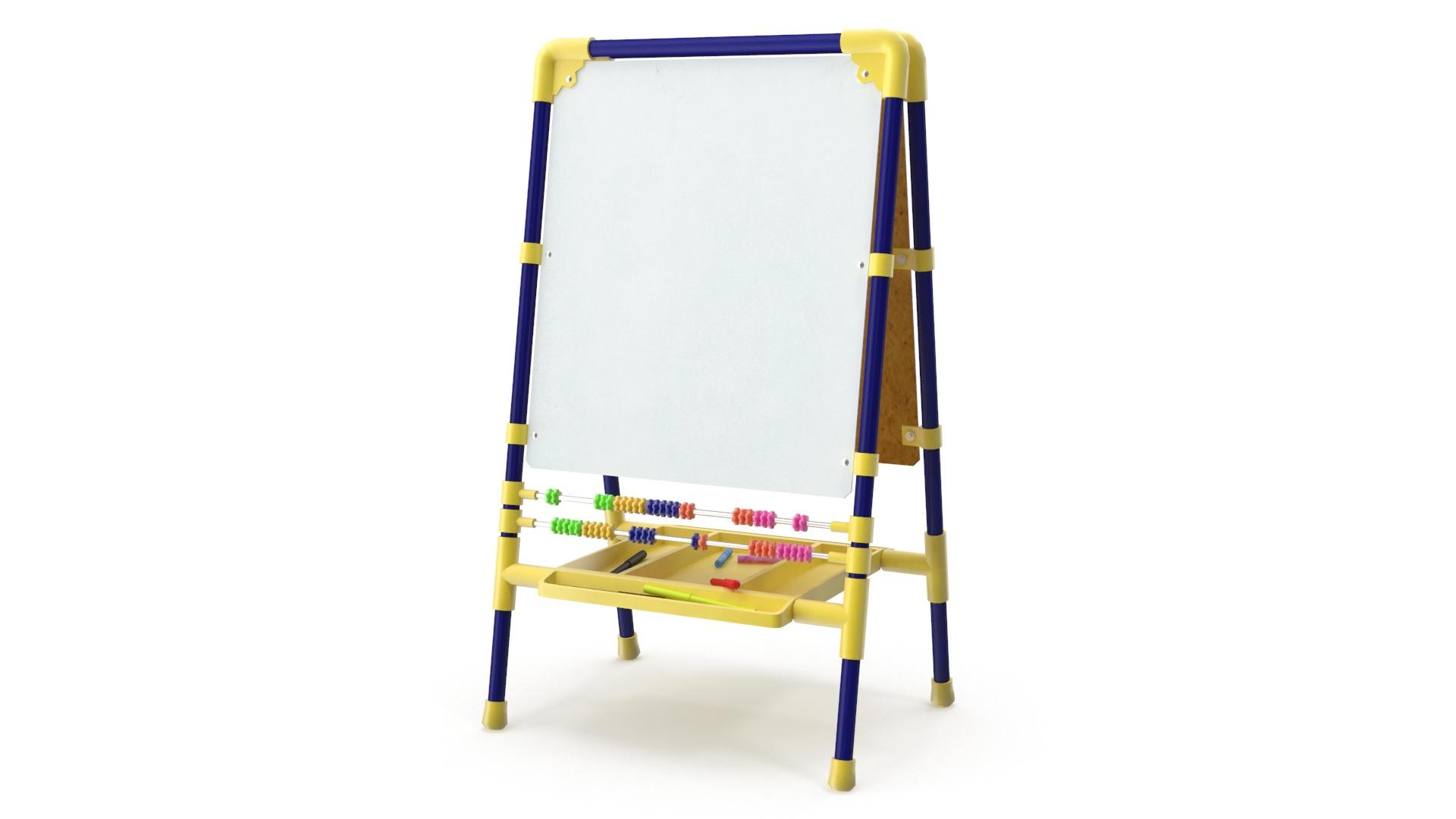 childrens drawing board 3d model 3ds max fbx obj 263603