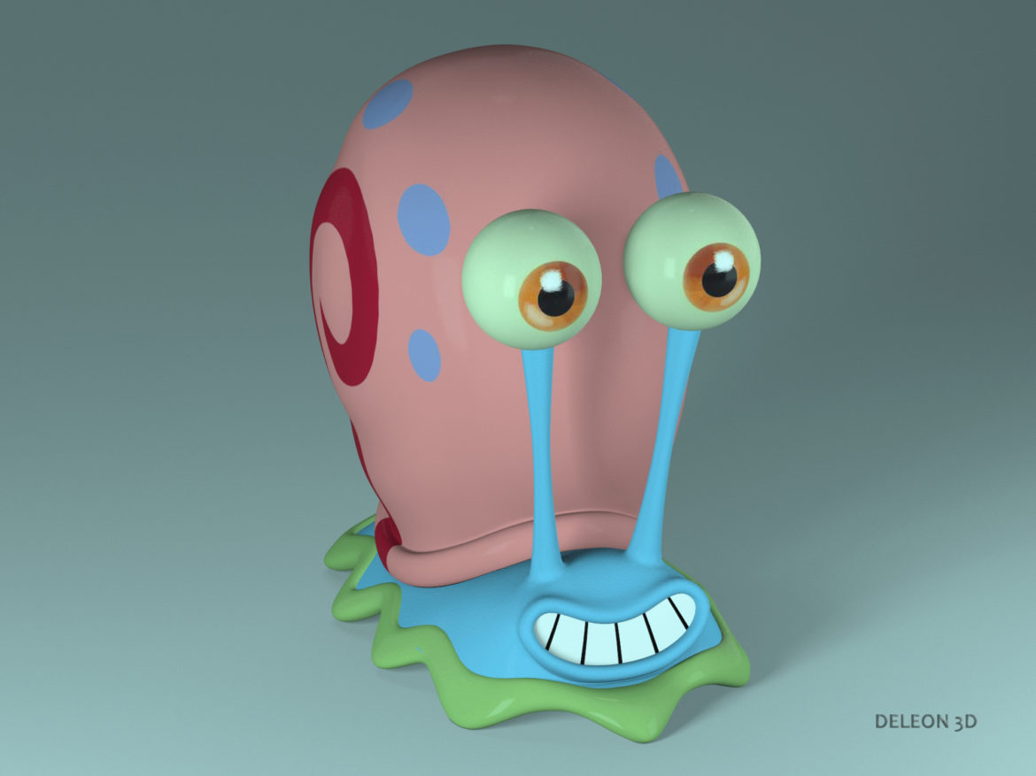 gary the snail 3d model max max obj lxo stl fbx c4d jpeg 263611