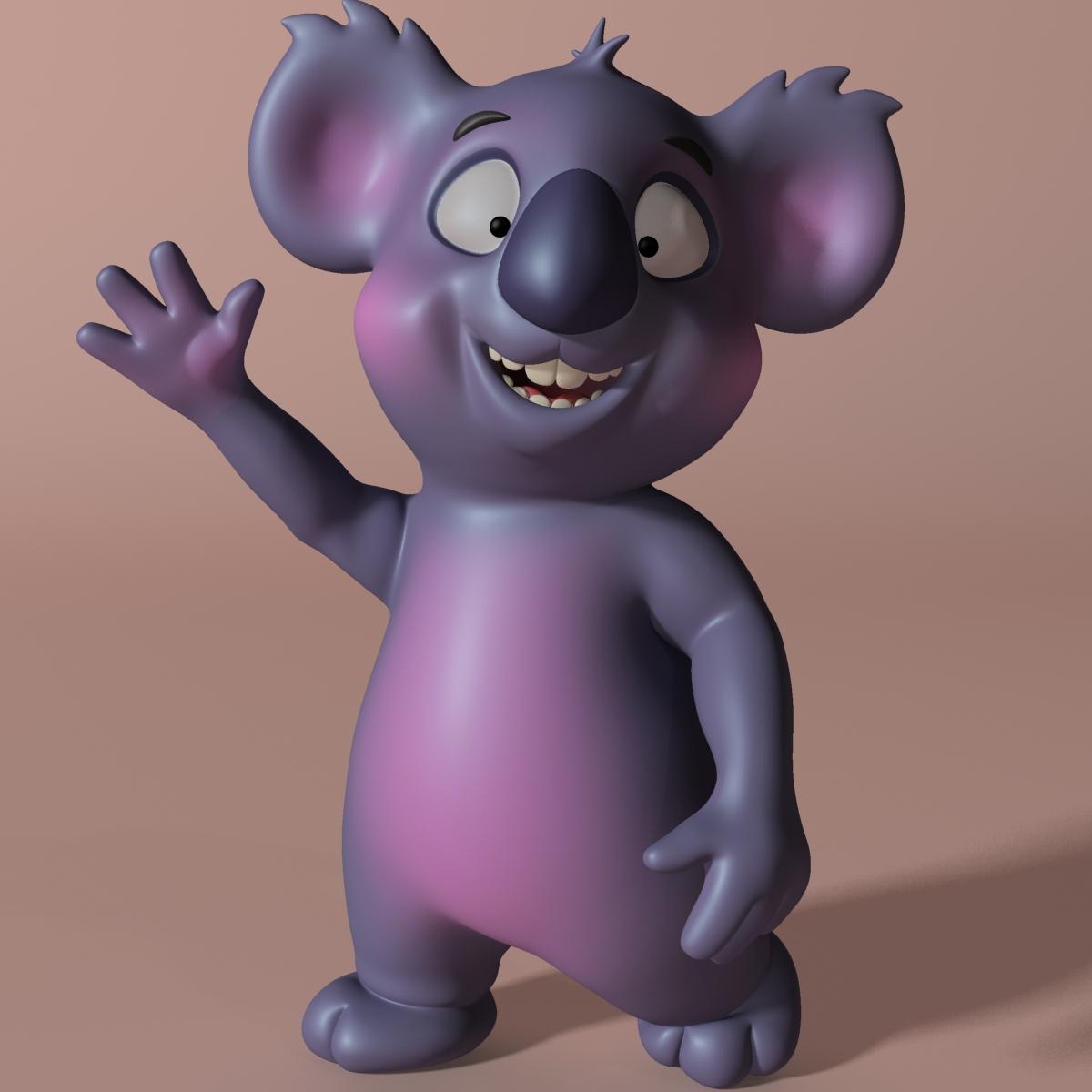 Cartoon koala RIGGED and ANIMATED 3d model  263625