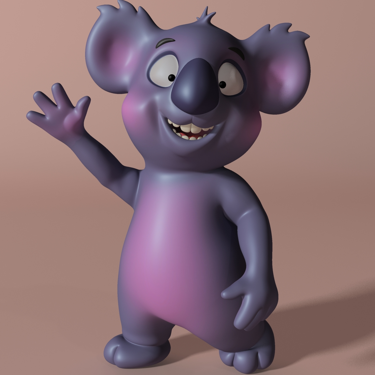 cartoon koala rigged at animated 3d modelo 3ds max fbx obj stl 263625