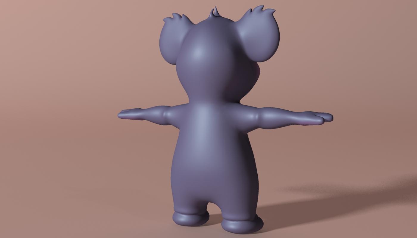 cartoon koala rigged and animated 3d model 3ds max fbx obj stl 263629