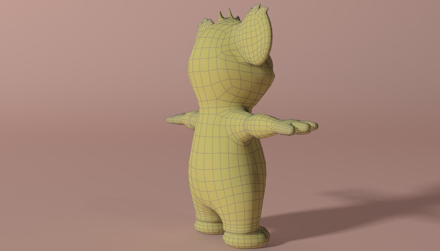 cartoon koala rigged and animated 3d model 3ds max fbx obj stl 263633