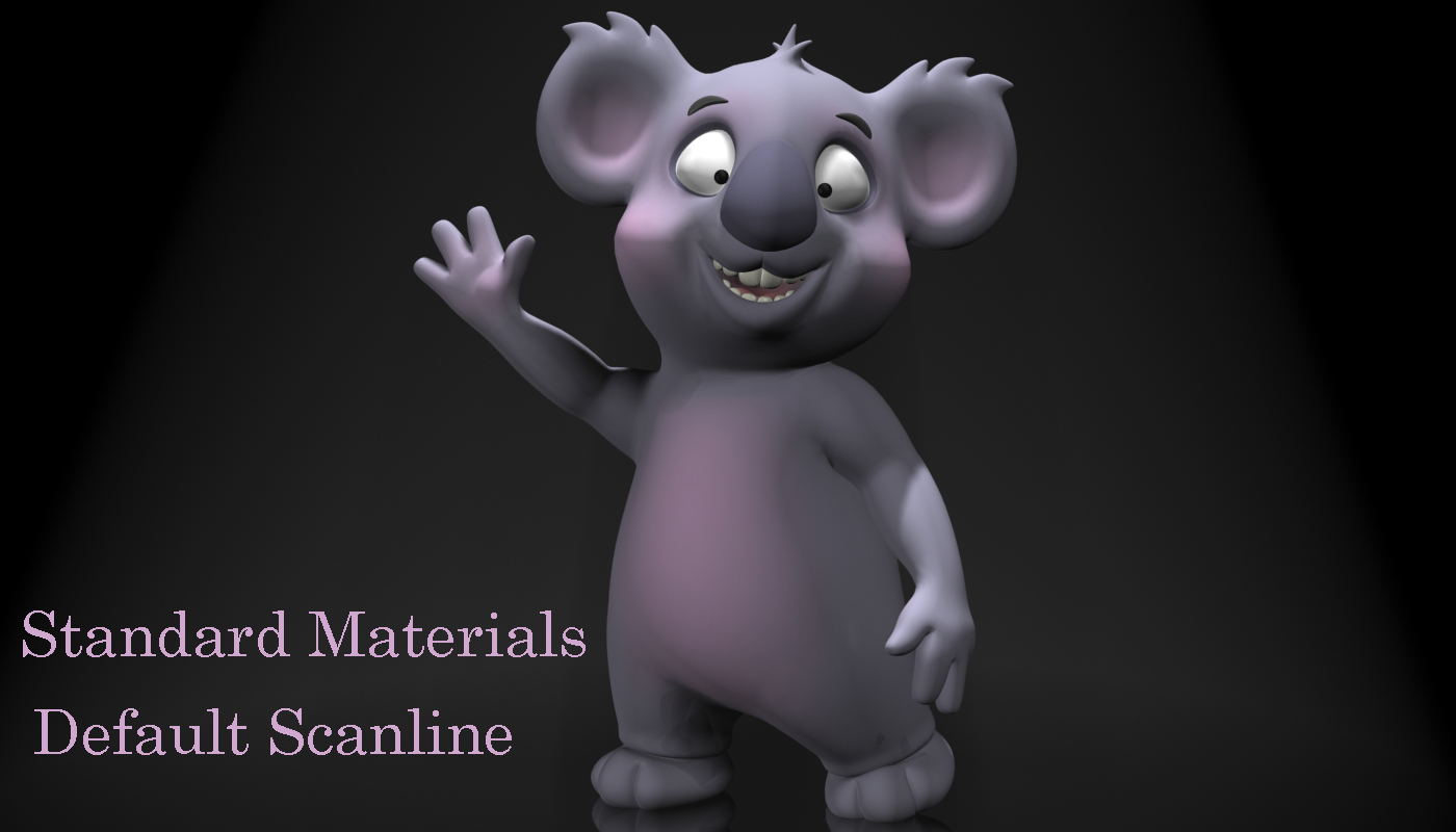 cartoon koala rigged and animated 3d model 3ds max fbx obj stl 263634