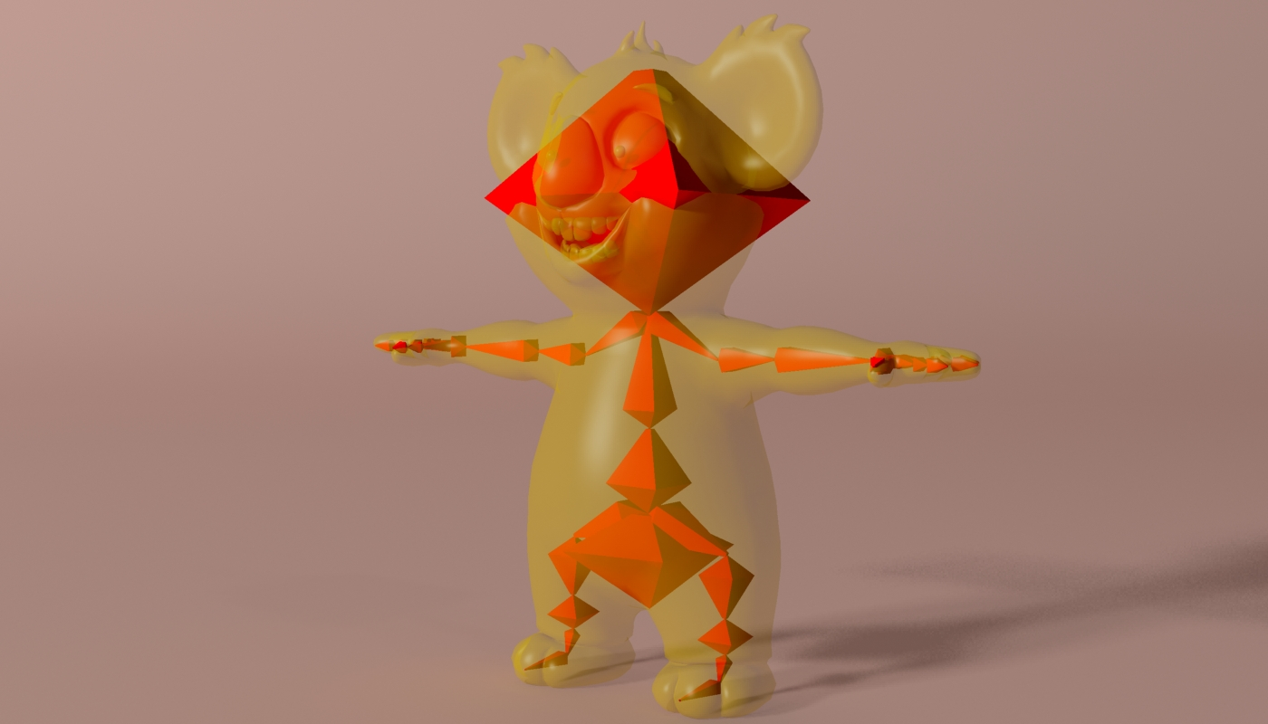 karikatūra koala rigged un animēts 3d modelis 3ds max fbx obj stl 263635