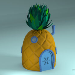 Pineapple SpongeBob 3d model 0