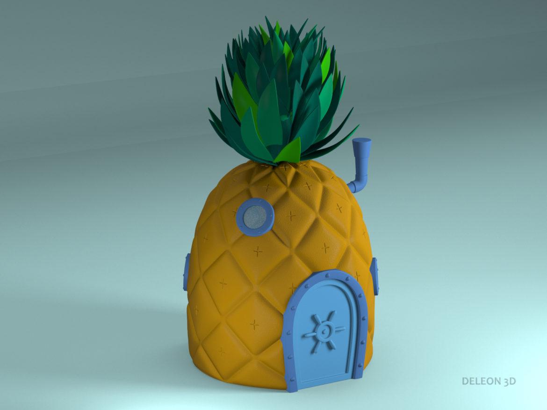 pineapple spongebob 3d model max max fbx lxo obj stl c4d 263653