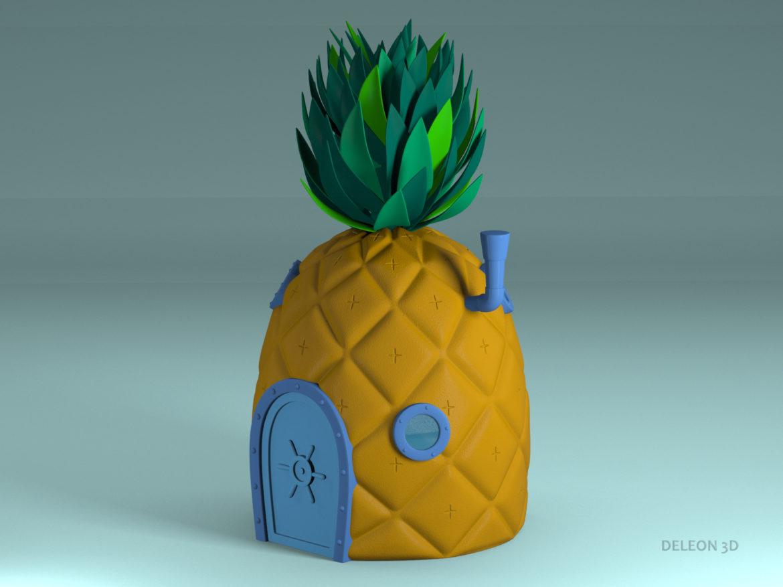 pineapple spongebob 3d model max max fbx lxo obj stl c4d 263654