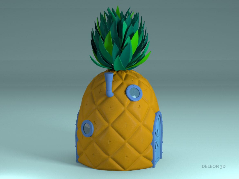 pineapple spongebob 3d model max max fbx lxo obj stl c4d 263655