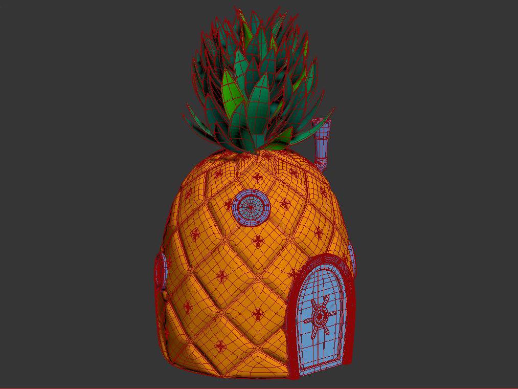 pineapple spongebob 3d model max max fbx lxo obj stl c4d 263656