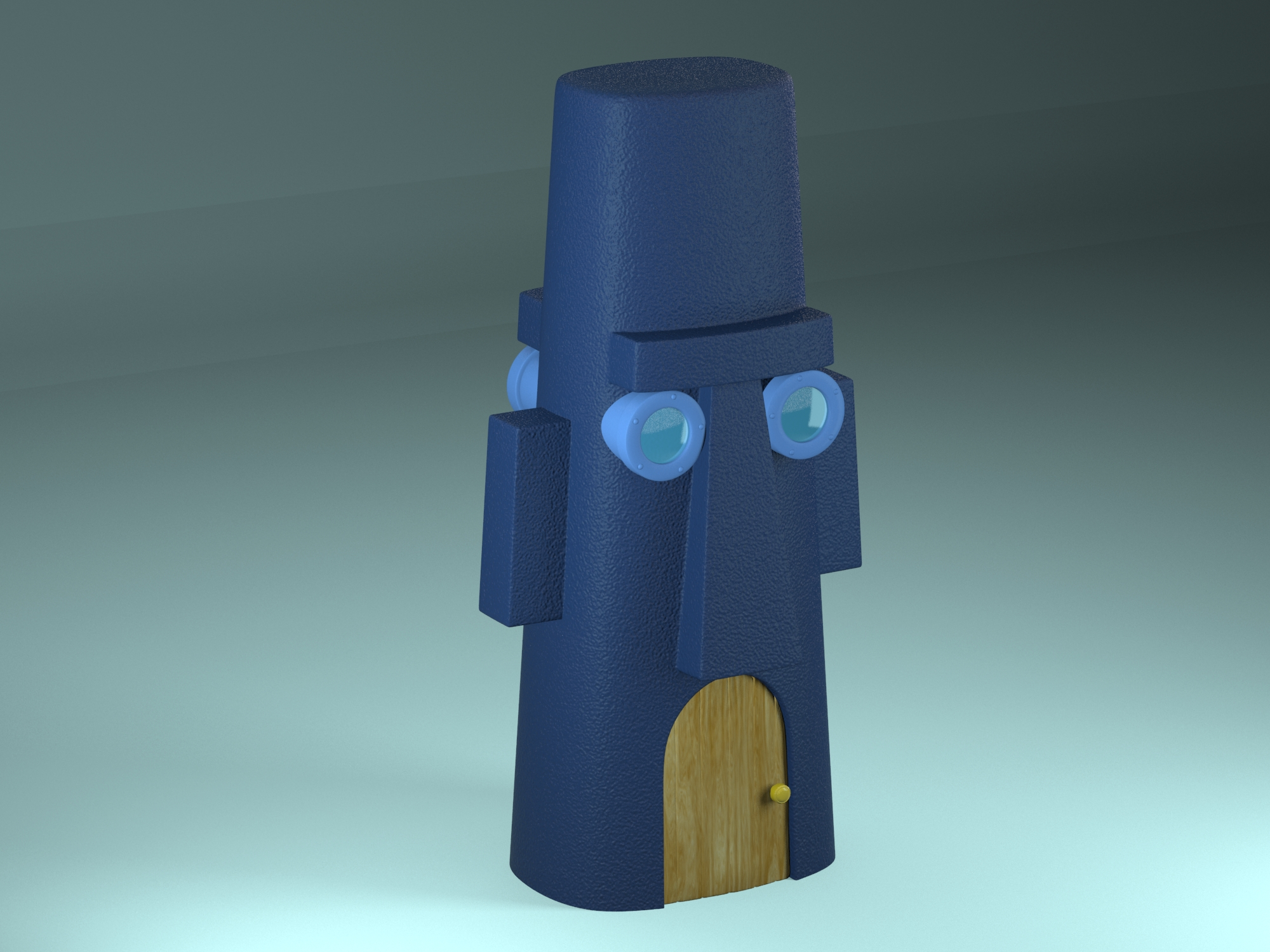 squidward's house 3d model max max c4d fbx lxo obj stl jpeg 263667