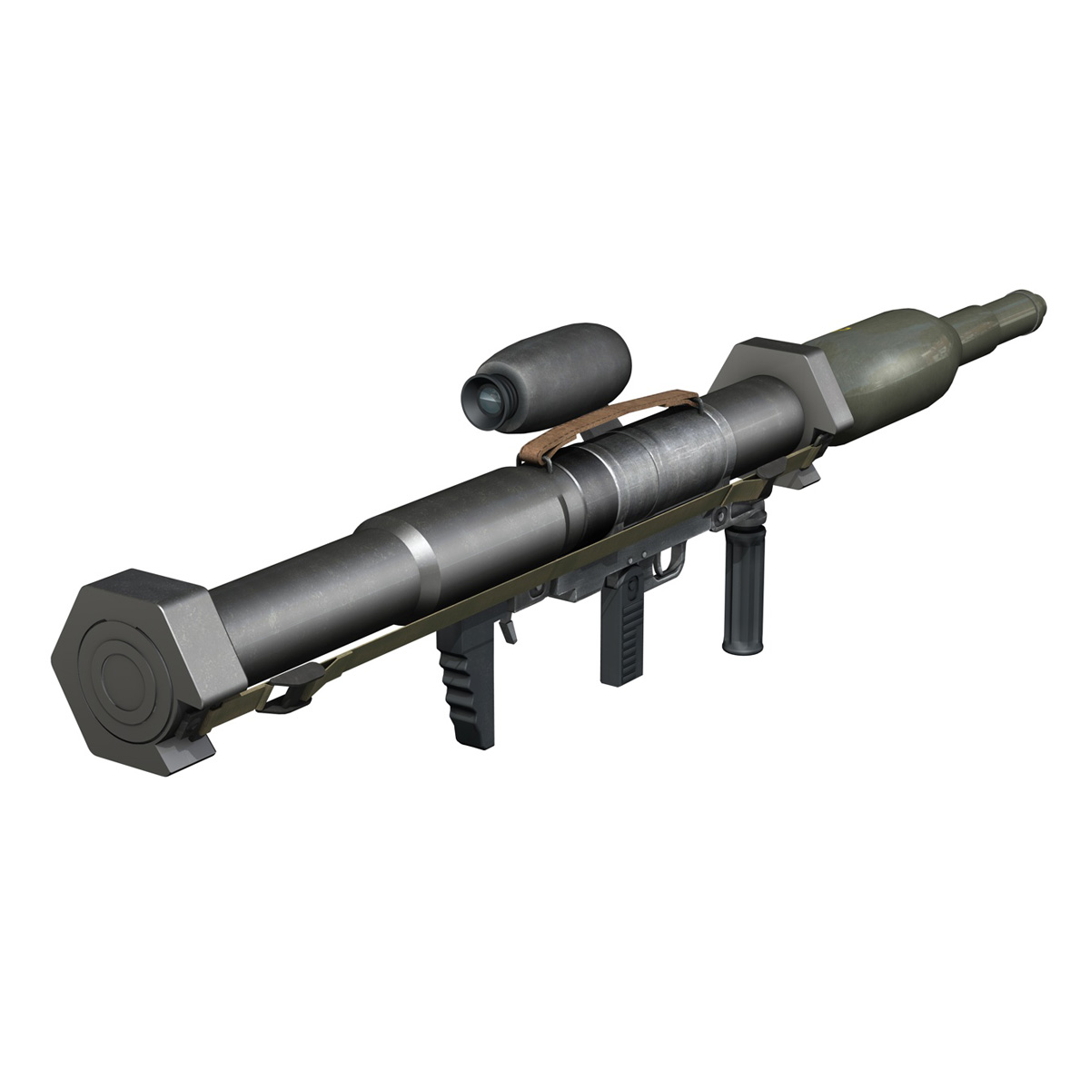 anti-tank raket başlatma panzerfaust 3 3d model 3ds c4d lwo obj 263700