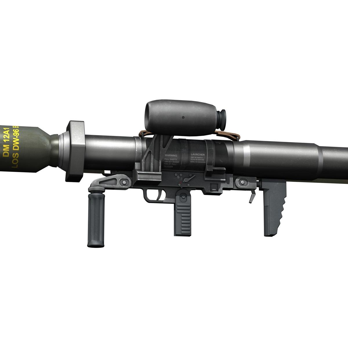 anti-tank raket başlatma panzerfaust 3 3d model 3ds c4d lwo obj 263702