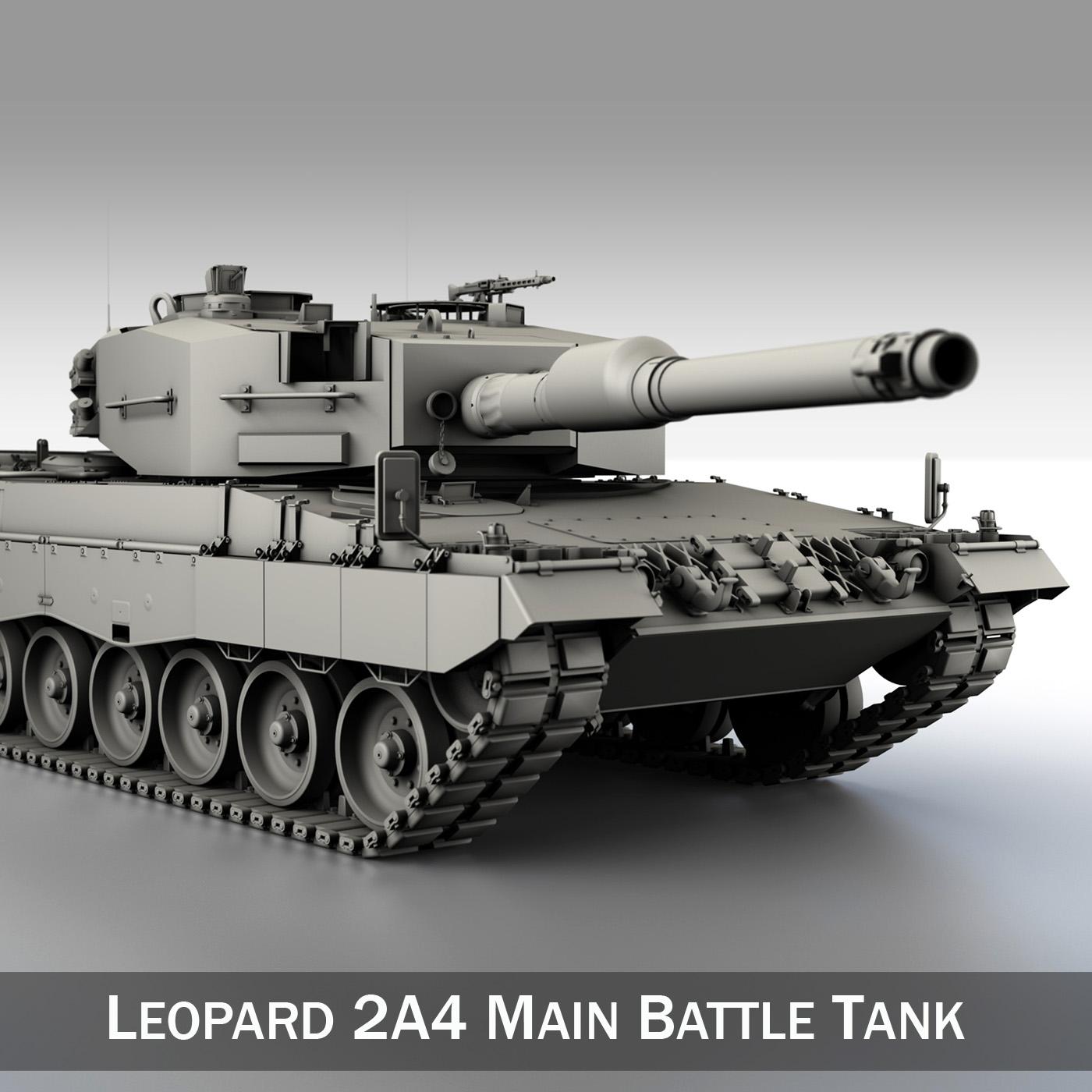 leopard 2a4 mbt 1 múnla 3d 3ds c4d lwo obj 263713