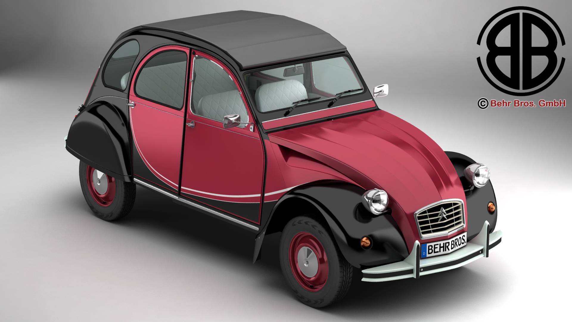 citroen 2cv6 charleston 3d model 3ds max fbx c4d lwo ma mb obj 263790