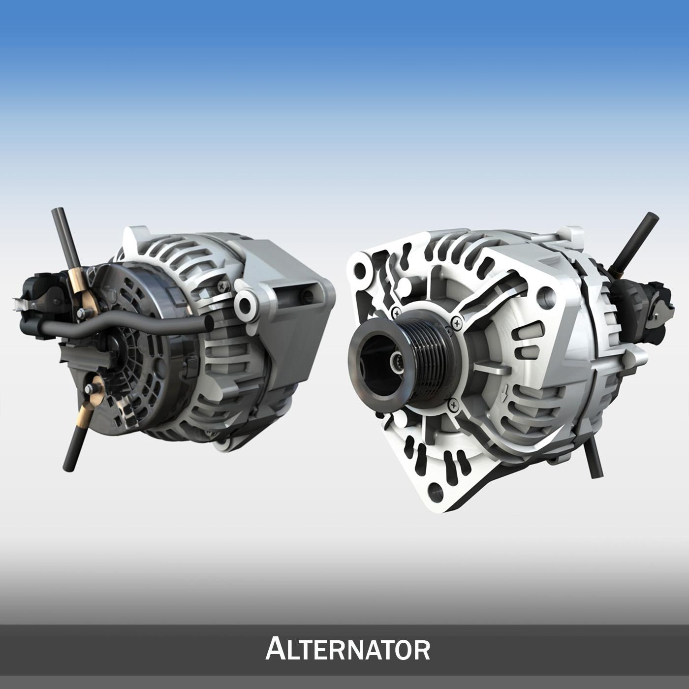 Alternator 3d model 3ds c4d lwo lws lw obj 263857
