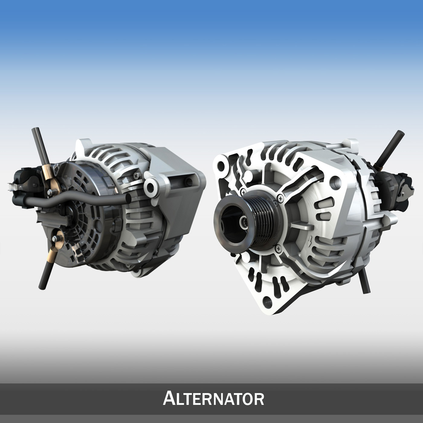 alternator 3d model 3ds c4d kanggo 263857