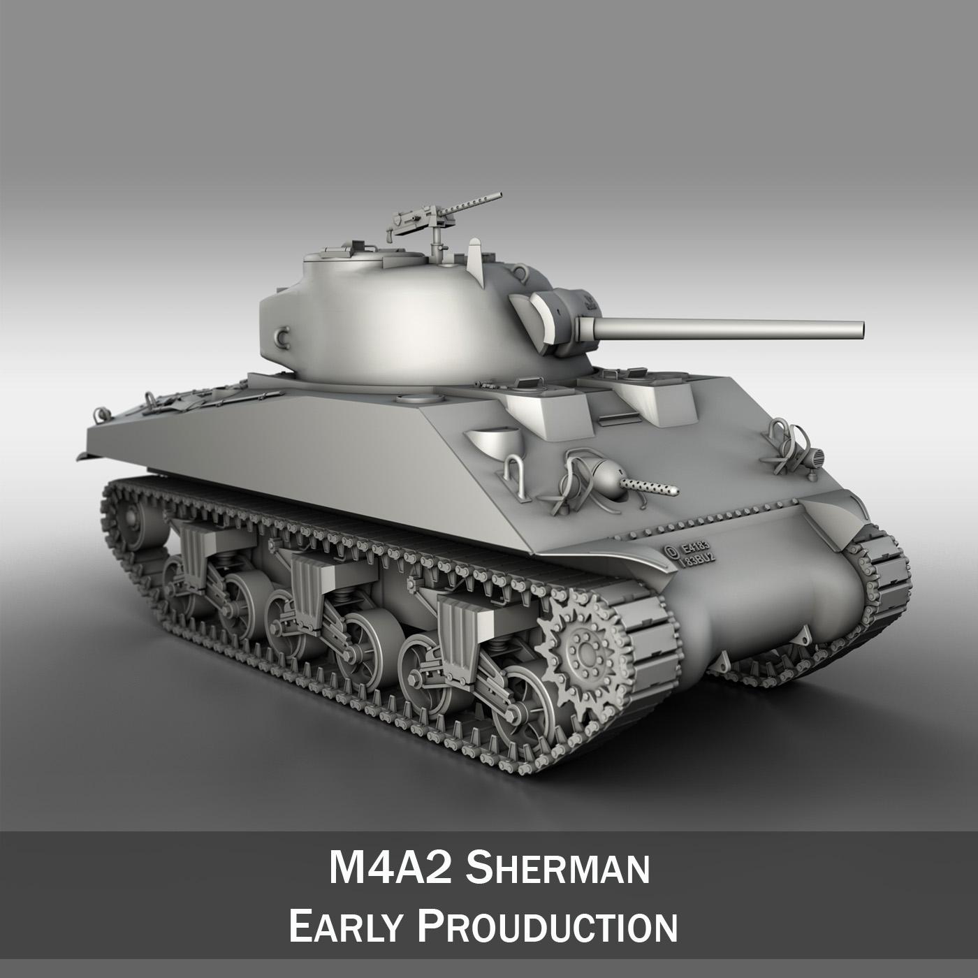 m4a2 sherman – medium tank 3d model 3ds c4d lwo 3dm obj 263885