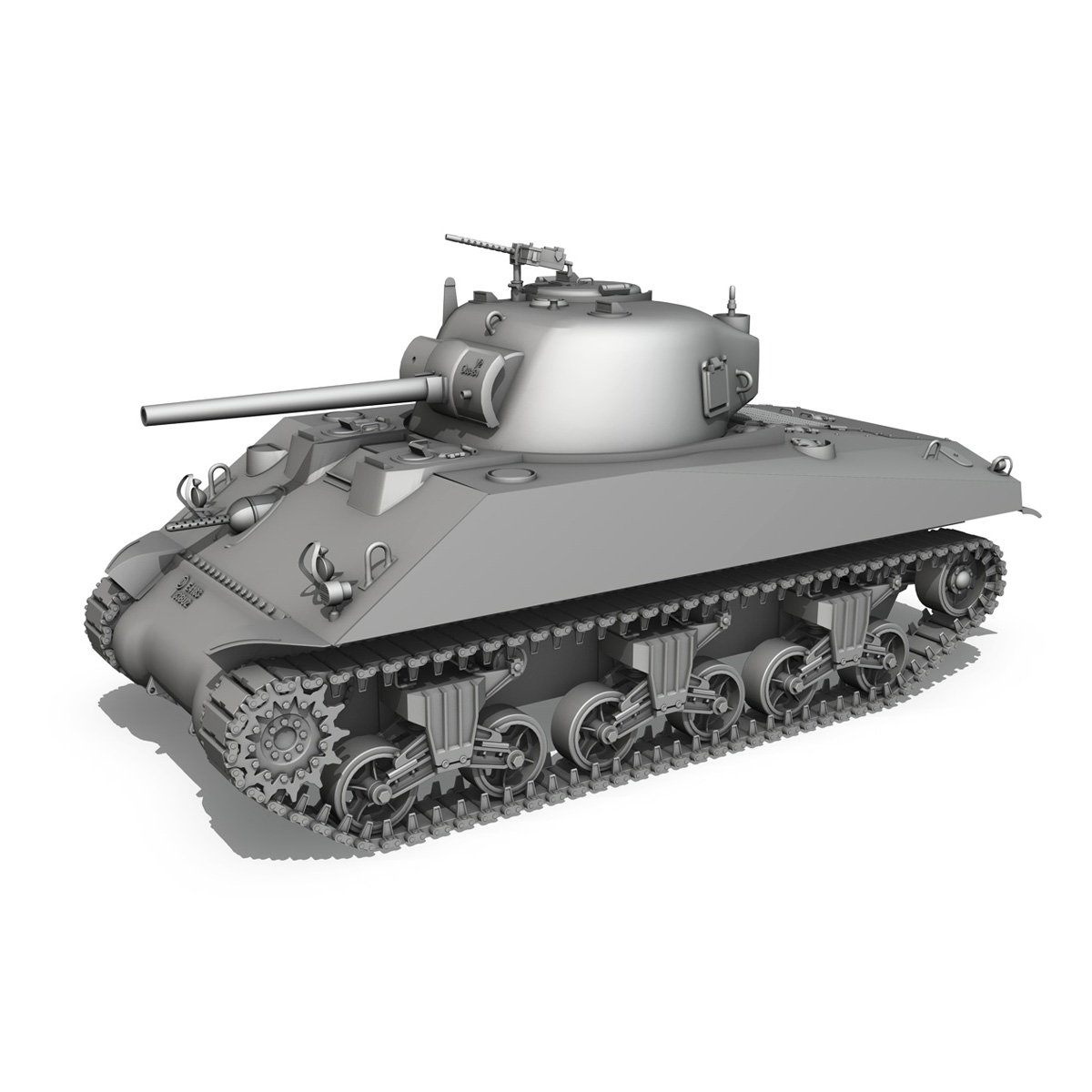 m4a2 sherman – medium tank 3d model 3ds c4d lwo 3dm obj 263886