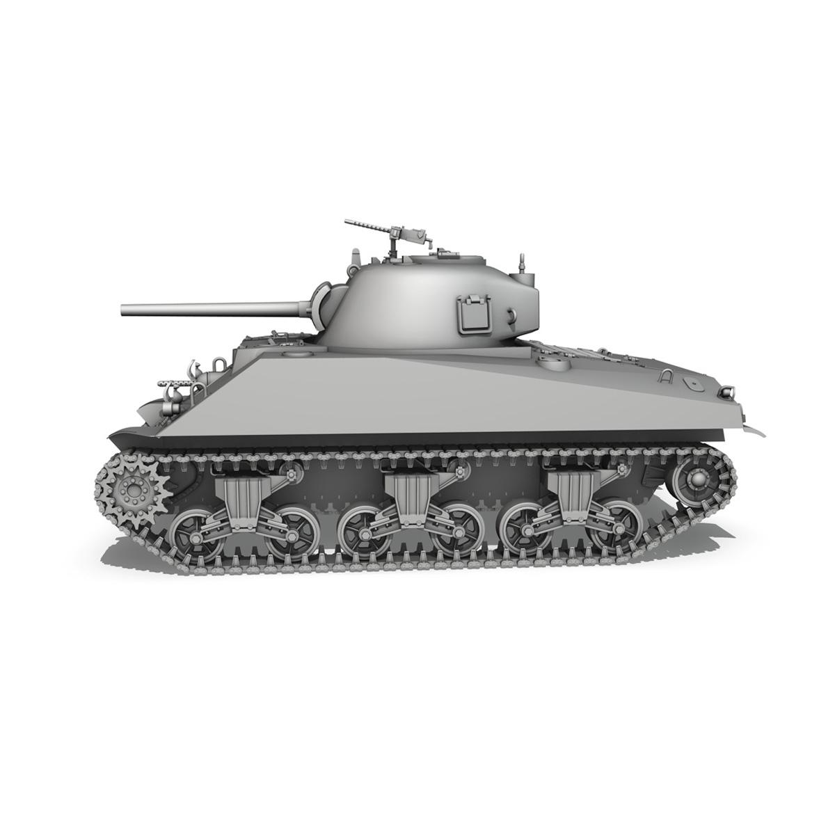 m4a2 sherman – medium tank 3d model 3ds c4d lwo 3dm obj 263887