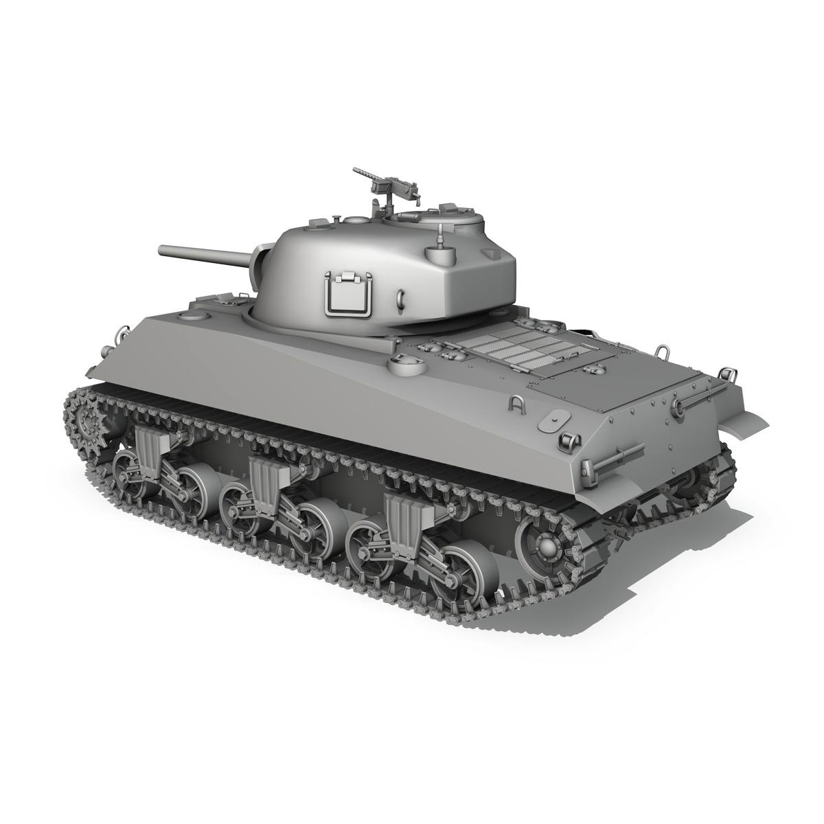 m4a2 sherman – medium tank 3d model 3ds c4d lwo 3dm obj 263888
