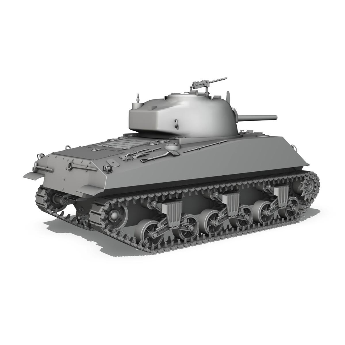 m4a2 sherman – medium tank 3d model 3ds c4d lwo 3dm obj 263889