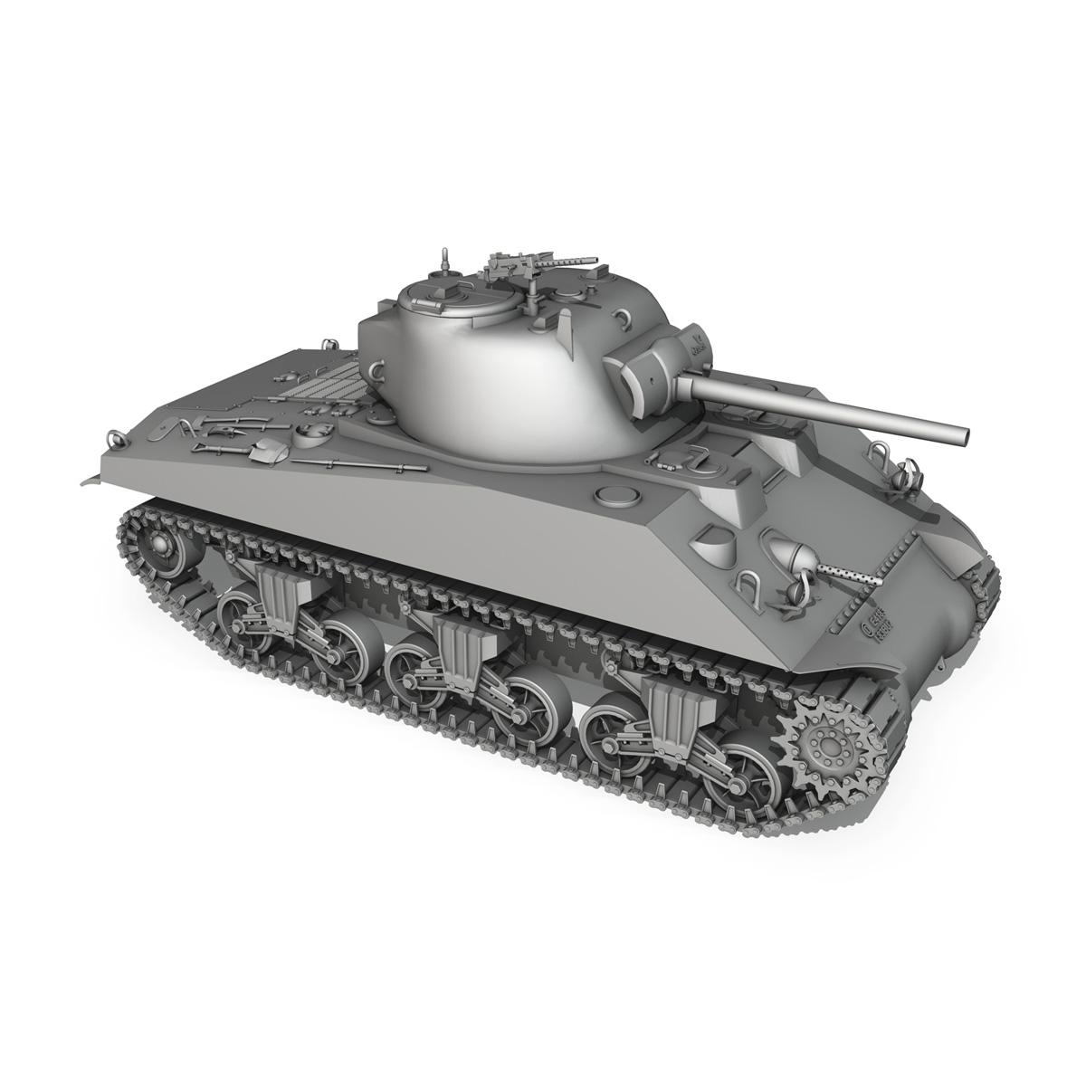 m4a2 sherman – medium tank 3d model 3ds c4d lwo 3dm obj 263890