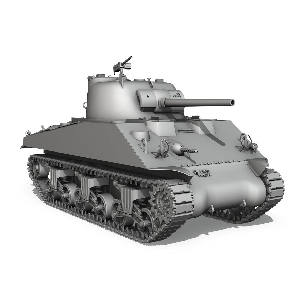 m4a2 sherman – medium tank 3d model 3ds c4d lwo 3dm obj 263891