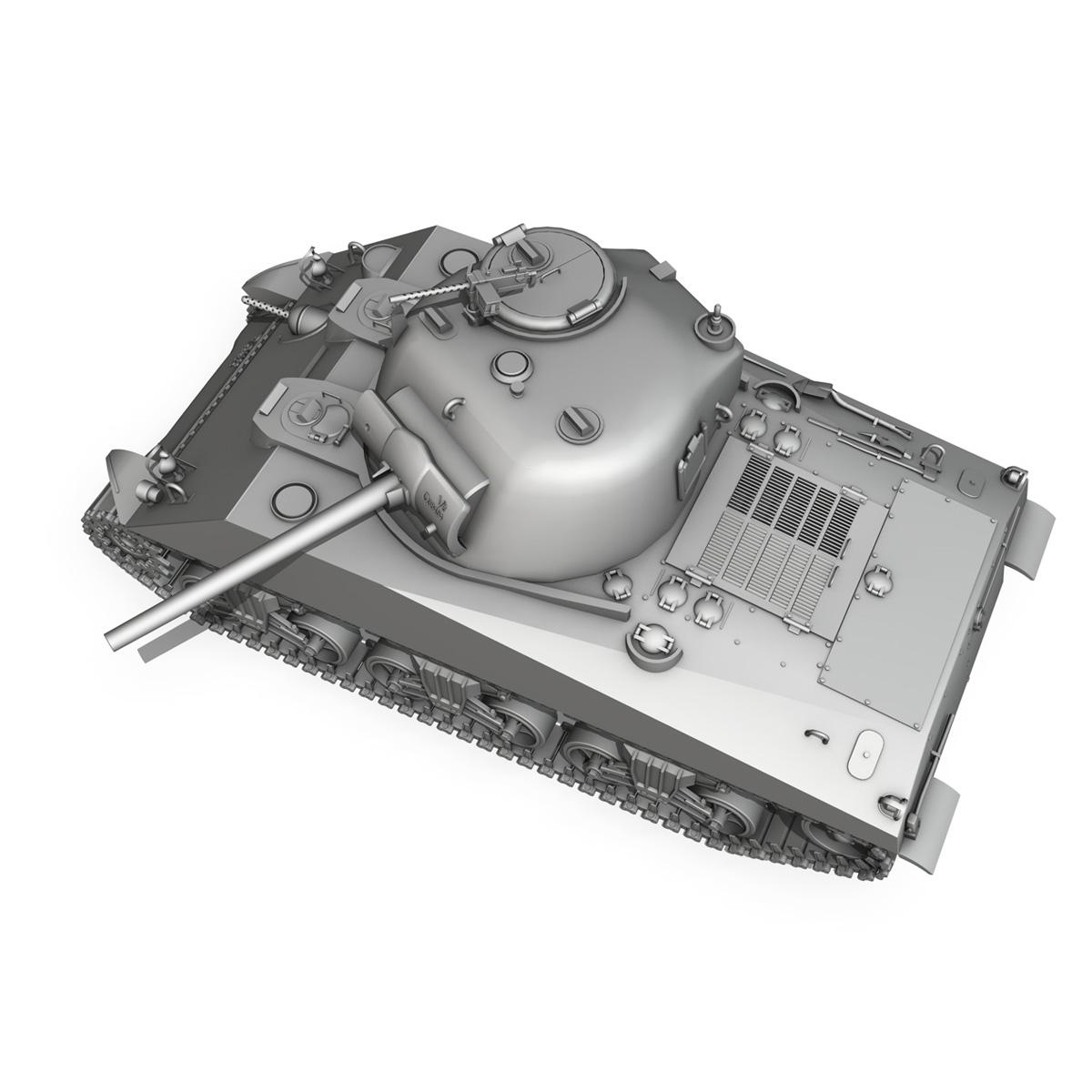 m4a2 sherman – medium tank 3d model 3ds c4d lwo 3dm obj 263892
