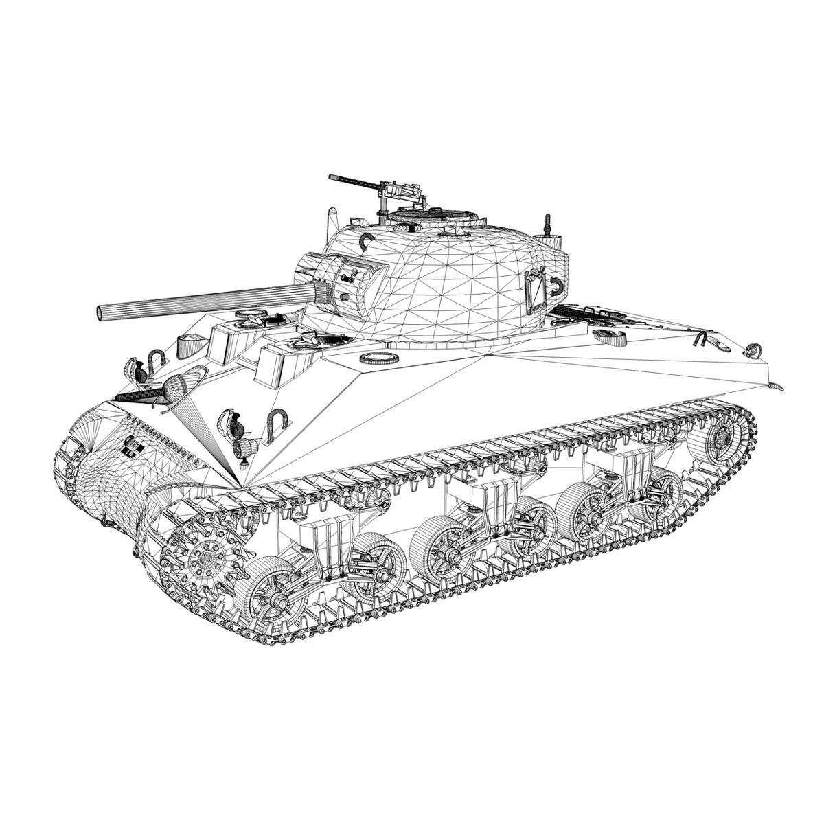 m4a2 sherman – medium tank 3d model 3ds c4d lwo 3dm obj 263895