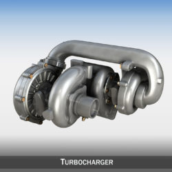 Turbocharger 3d model 3ds c4d lwo lws lw obj