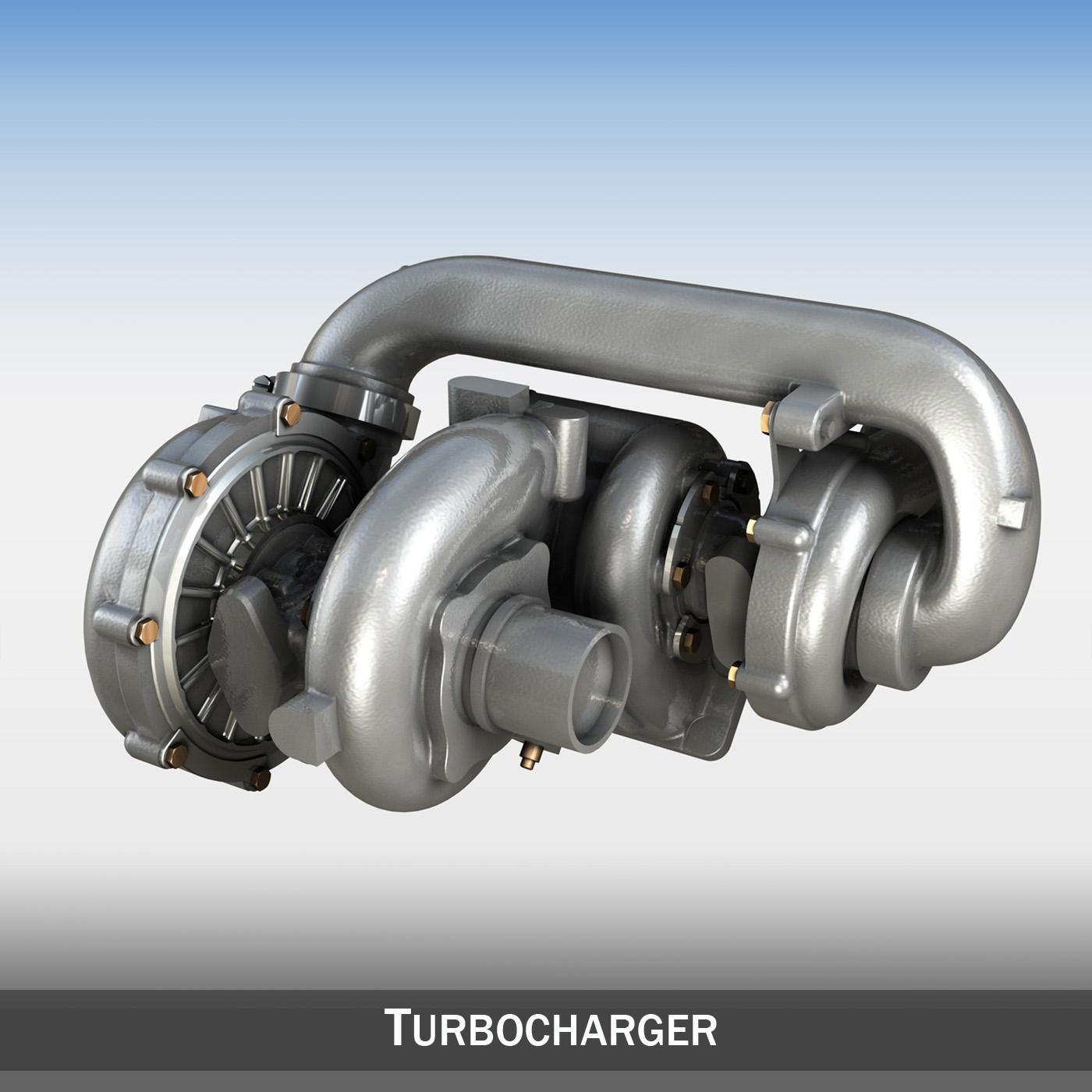 turbopunjač c4d 3d model 3ds c4d lwo obj 263921