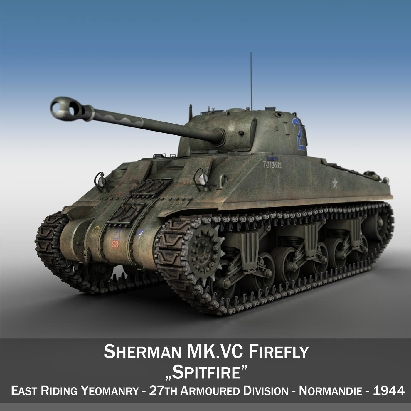 sherman mk vc firefly - samhail spitfire 3d 3ds c4d lwo obj 263974