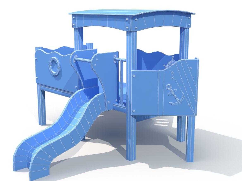 Children slide 3d model low poly