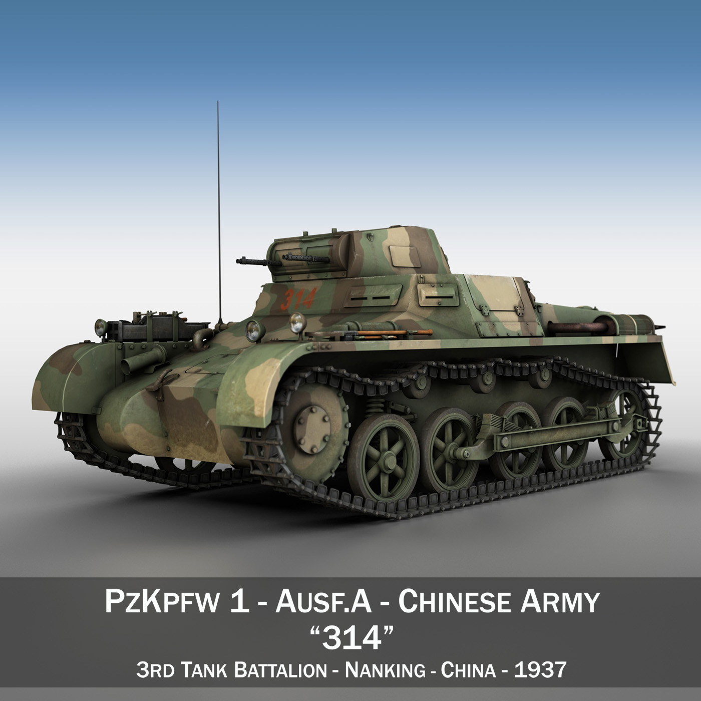 panzer 1 – pzkpfw 1 ausf.a – china 3d model 3ds c4d lwo obj 264079