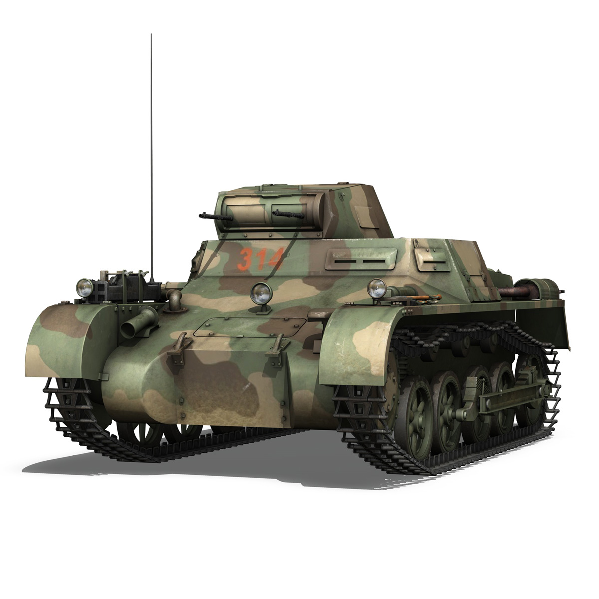 panzer 1 – pzkpfw 1 ausf.a – china 3d model 3ds c4d lwo obj 264080