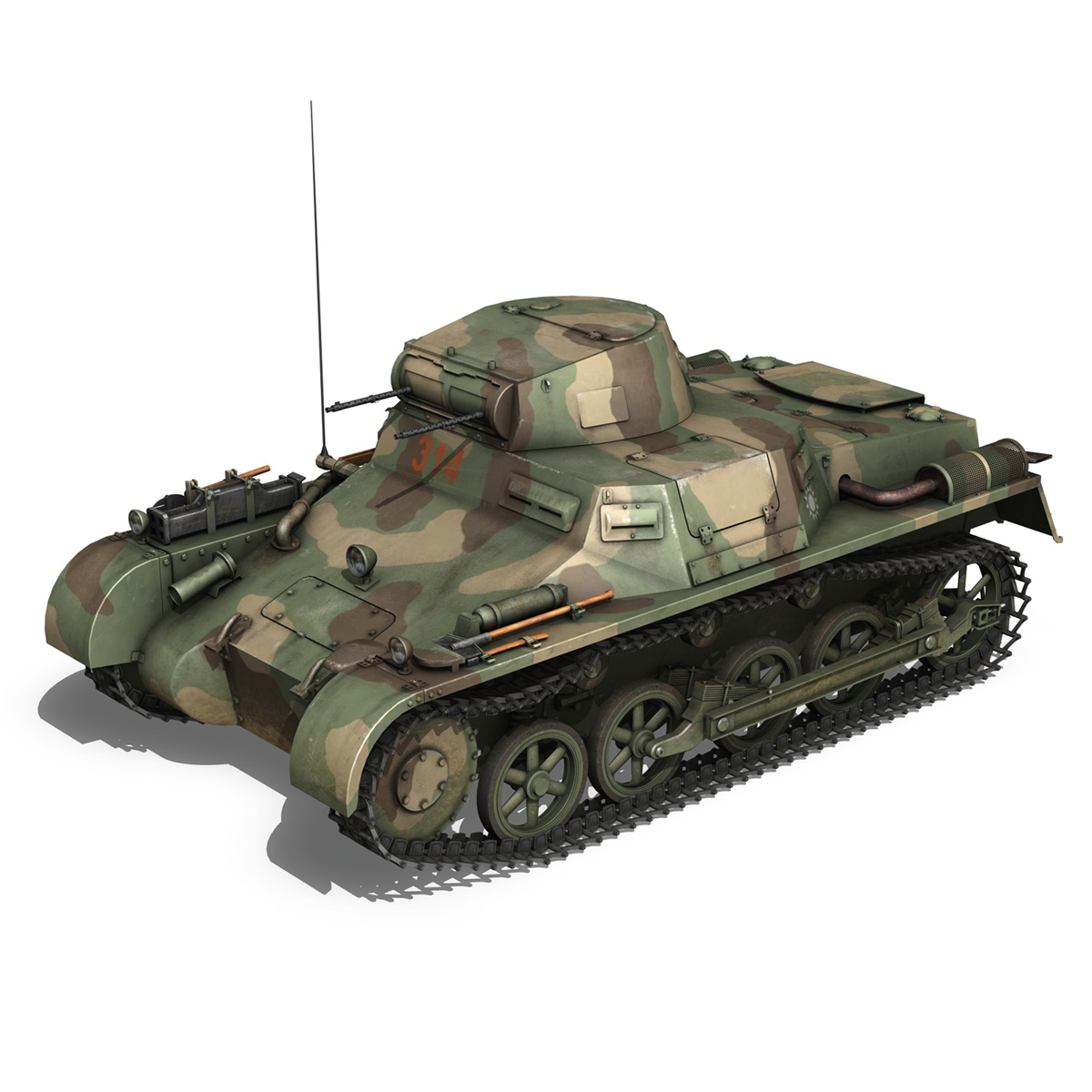 panzer 1 – pzkpfw 1 ausf.a – china 3d model 3ds c4d lwo obj 264081