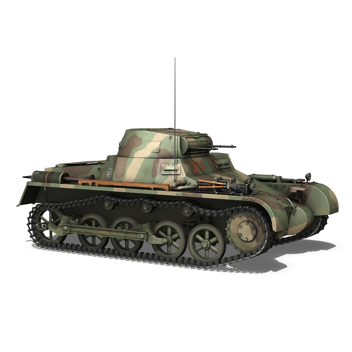 panzer 1 – pzkpfw 1 ausf.a – china 3d model 3ds c4d lwo obj 264086