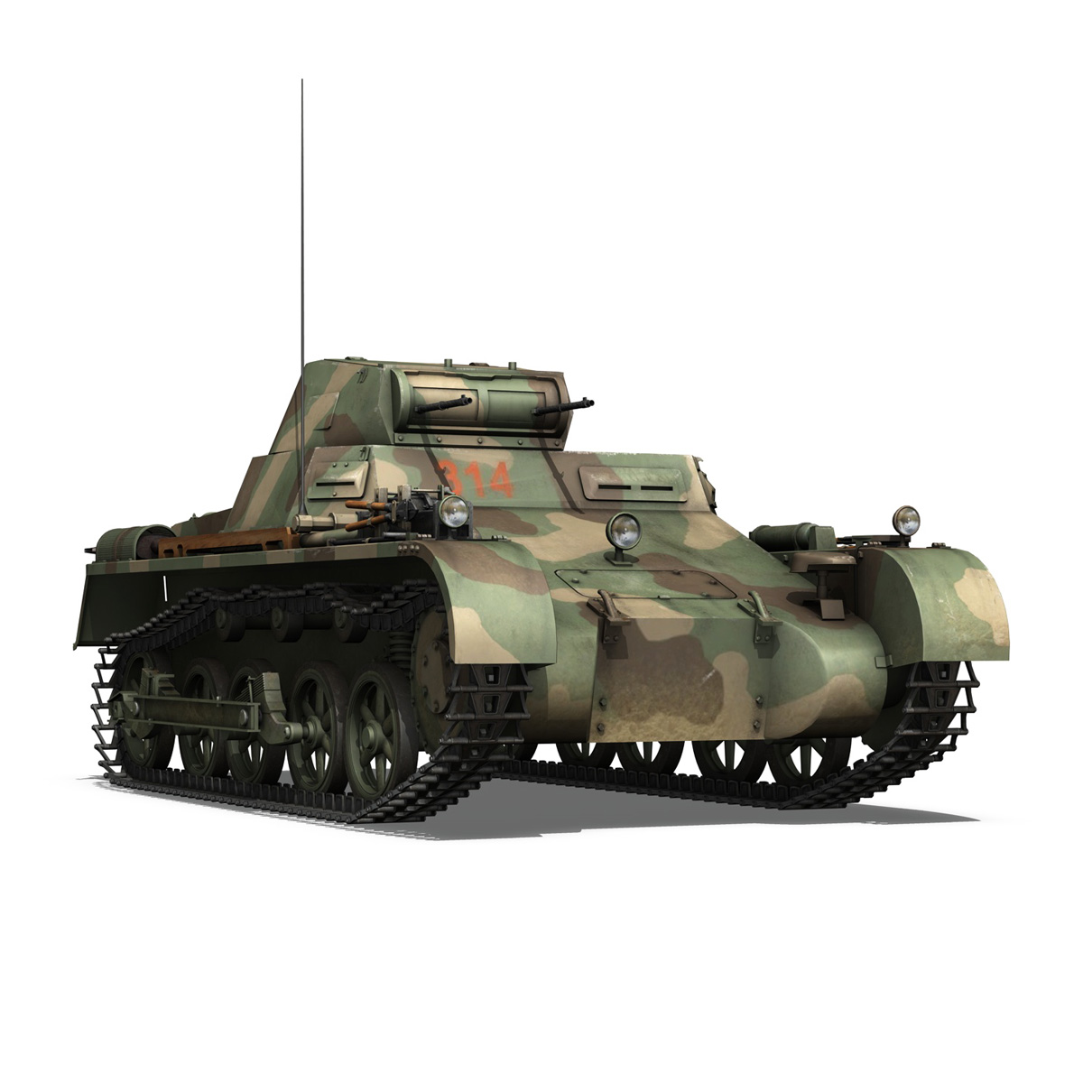 panzer 1 – pzkpfw 1 ausf.a – china 3d model 3ds c4d lwo obj 264087
