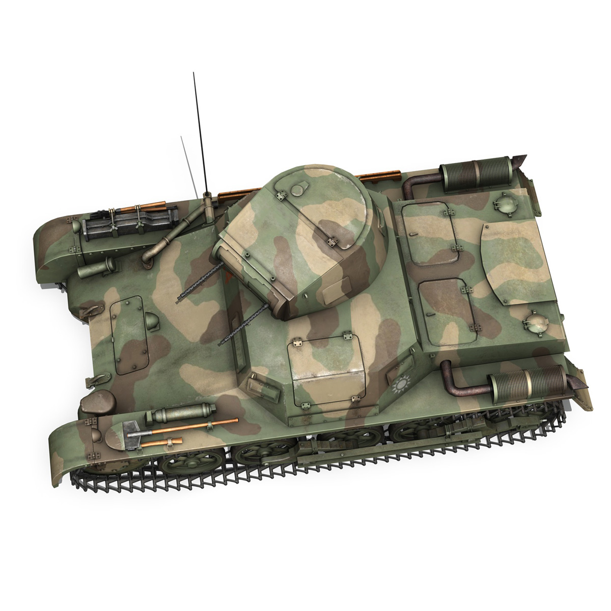 panzer 1 – pzkpfw 1 ausf.a – china 3d model 3ds c4d lwo obj 264088