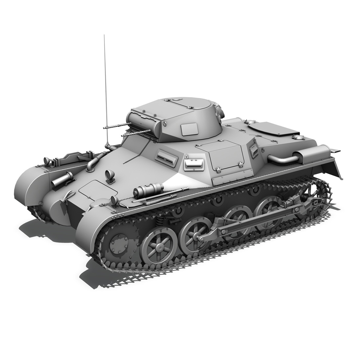 panzer 1 – pzkpfw 1 ausf.a – china 3d model 3ds c4d lwo obj 264090