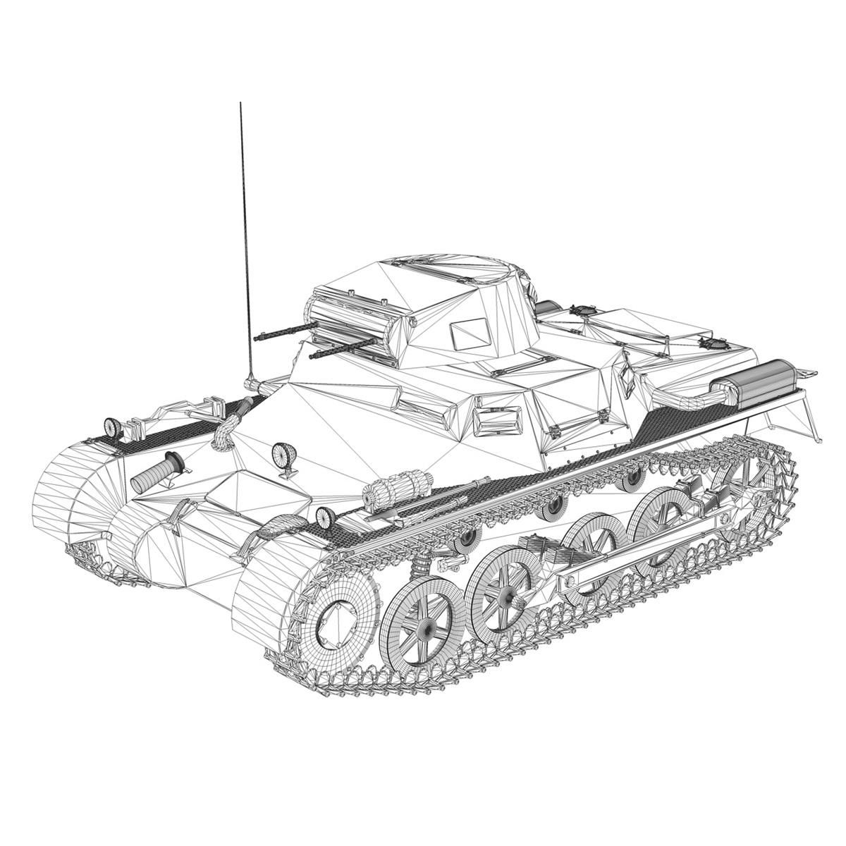 panzer 1 – pzkpfw 1 ausf.a – china 3d model 3ds c4d lwo obj 264091