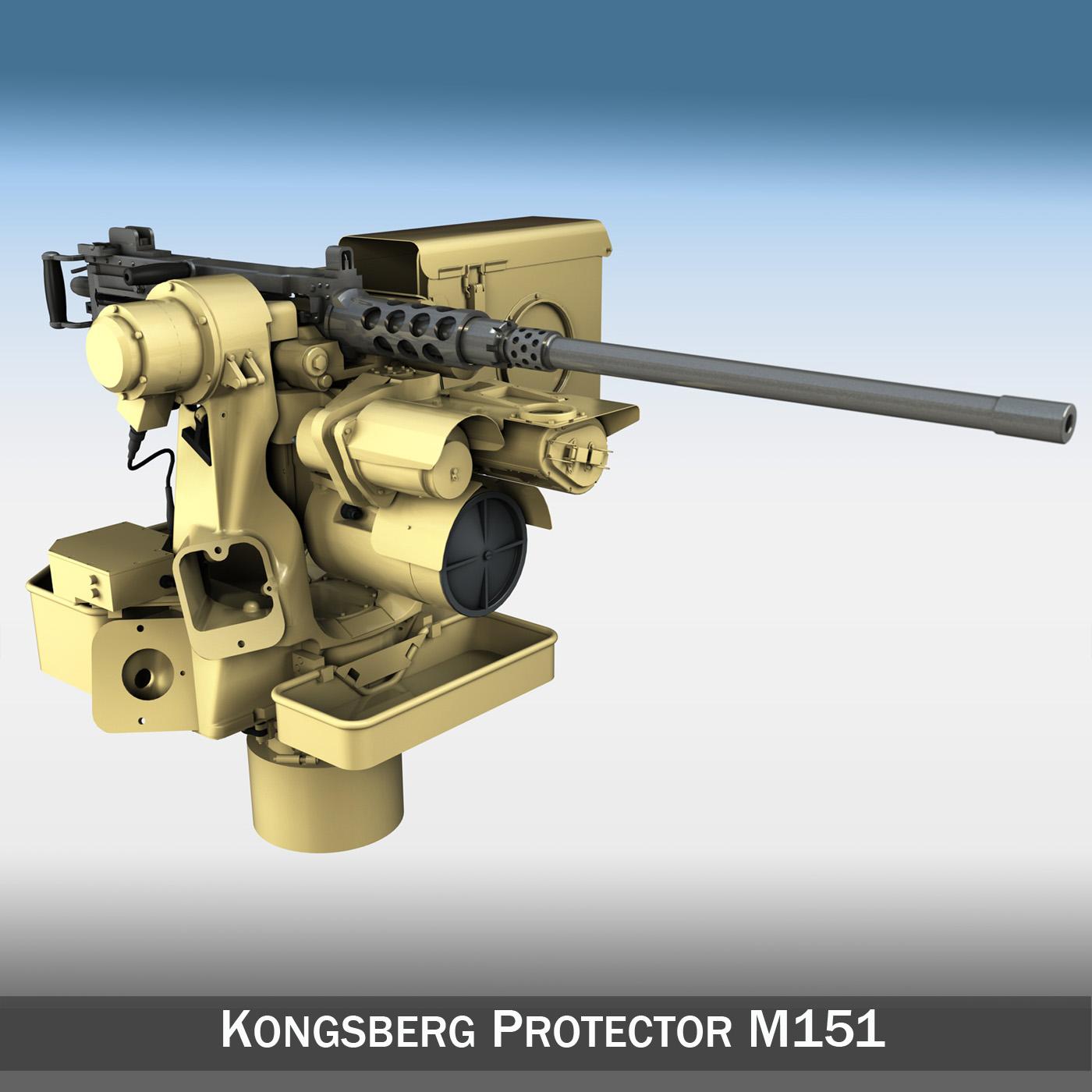 kongsberg protector m151 rws 3d model 3ds c4d lwo obj 264098