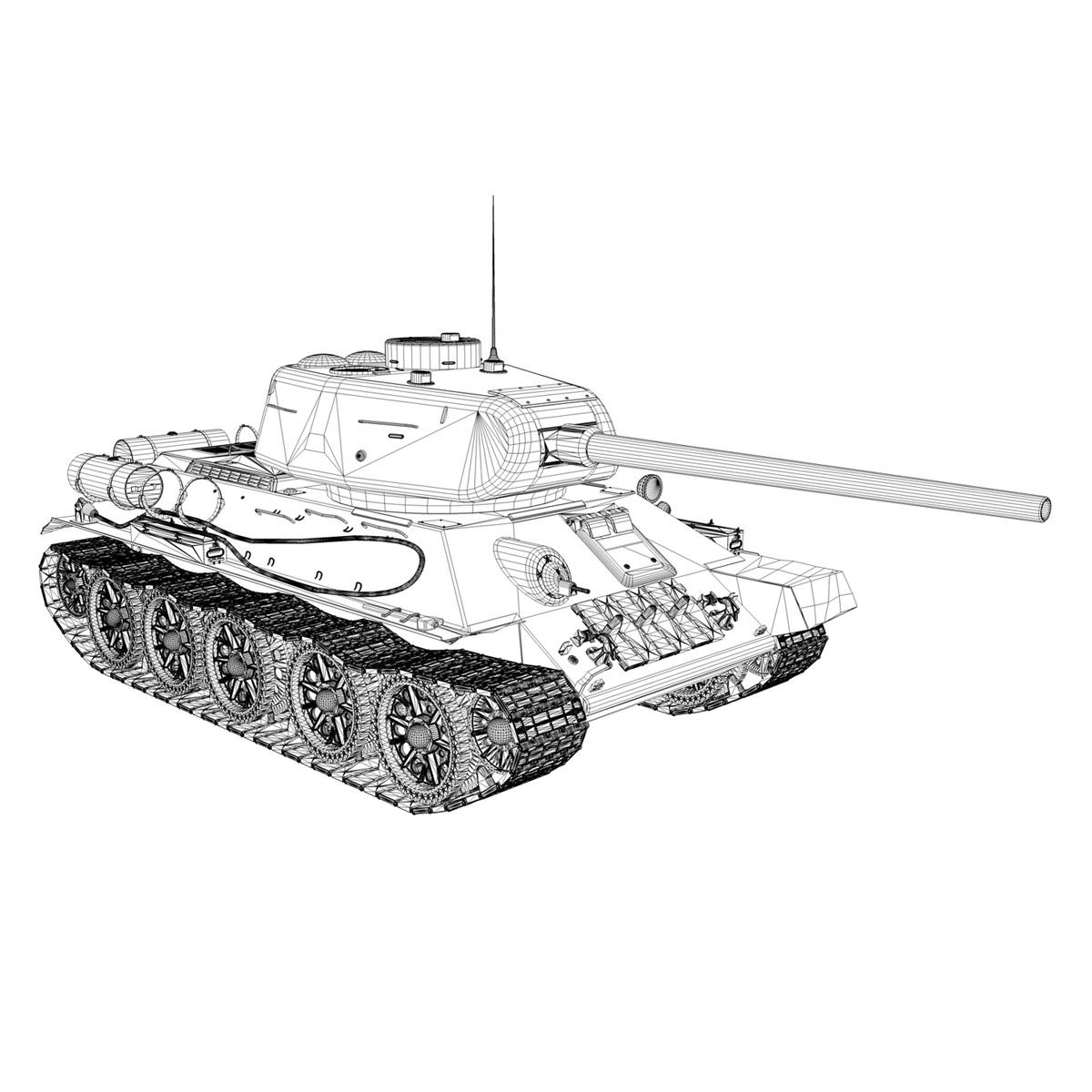 t-34 85 – soviet medium tank – 36 3d model 3ds c4d lwo obj 264152