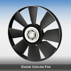 Engine cooling fan 3d model 3ds c4d lwo lws lw obj